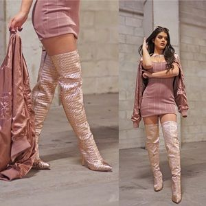 ⚡️Sample Sale⚡️ Rose Gold Over The Knee Boots